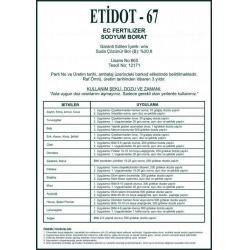 Zirai Bor Etidot 67 borlu gübre 5 kg