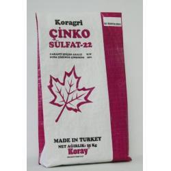 Yaprak Gübre Çinko Sülfat 25 kg ( Zinc Sulfate) %22 Zn