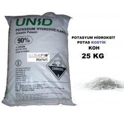 Potasyum Hidroksit 25 kg KOH Humik Asit ve Sabun Yapımında Kullan
